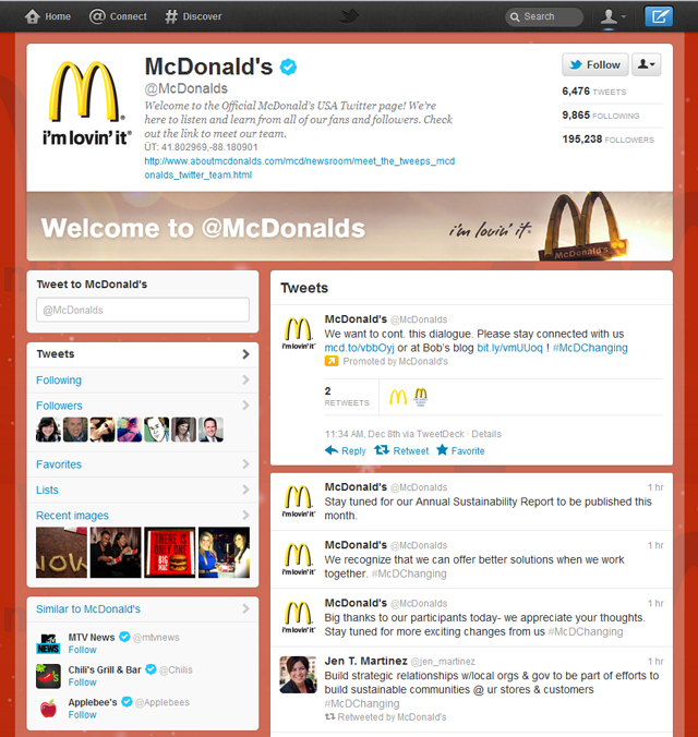 Twitter brand pages