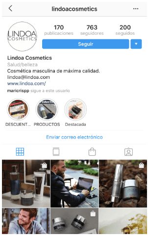 Perfil empresa Instagram
