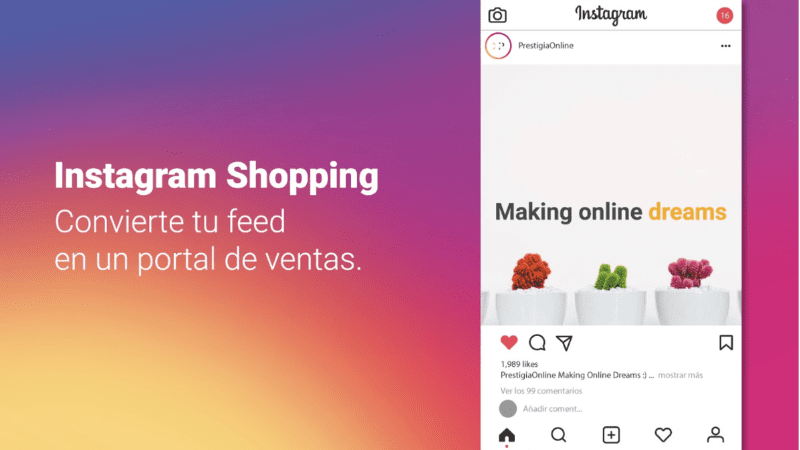 Instagram Shopping Gestión