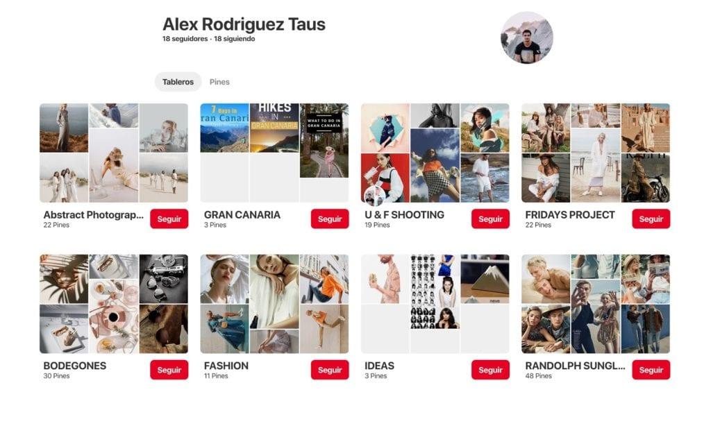 Perfil Pinterest Alex Rodriguez
